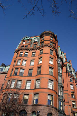 desirable: Back Bay and neighboring Beacon Hill are considered Bostons most upscale and desirable neighborhoods   Stock Photo