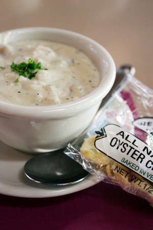 chowder: Stock image of New England Clam Chowder    Editorial
