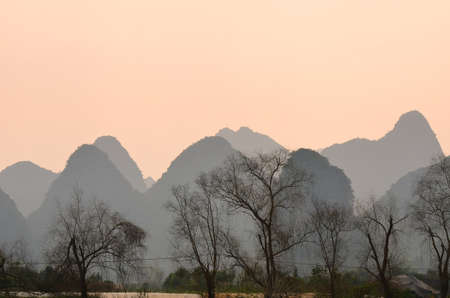 Landscape in Yangshuo Guilin, China Stock Photo - 29539990