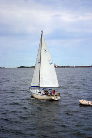 dinghies: Stock image of a saling yacht   Editorial