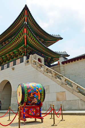 unesco world cultural heritage: Gyeongbok Palace, Seoul, Korean Republic
