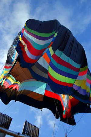 Colorful Hot air balloons preparing for flight in Vermont    photo