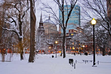 Stock image of a snowing winter at Boston, Massachusetts, USA 免版税图像 - 32169474