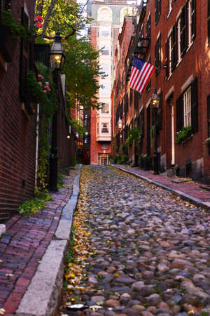 rowhouses: Beacon Hill is a wealthy neighborhood of Federal-style rowhouses, with some of the highest property values in the United States