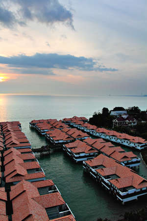 chalet: Chalet above sea at Port Dickson, Malaysia