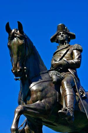 george washington statue: George Washington Statue in Boston Public Garden Stock Photo