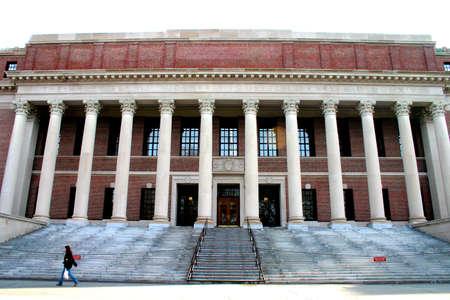 harvard university: Widener Memorial Library at Harvard University, Cambridge, Massachusetts Stock Photo