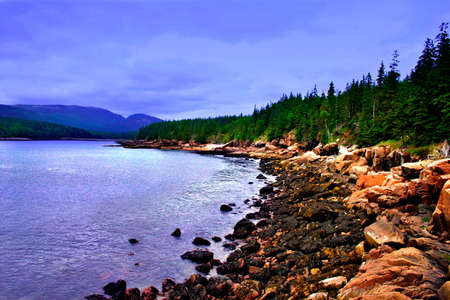 Acadia National Park, Maine Stock Photo