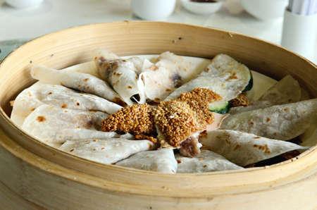 hoisin sauce: Stock imagew of Peking duck set