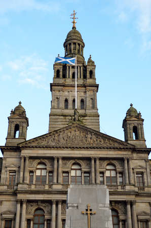 kamers: City Chambers in George Square, Glasgow, Scotland