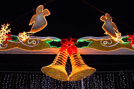illuminated: street illuminated for christmas