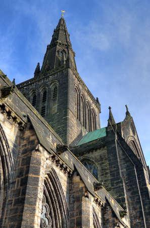 kirk: Glasgow cathedral aka High Kirk of Glasgow or St Kentigern or St Mungo Stock Photo