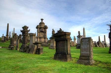 mausoleum: The Glasgow Necropolis, Victorian gothic cemetery, Scotland, UK