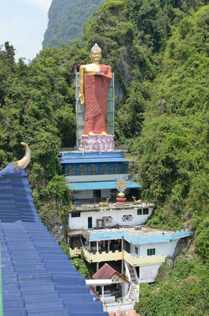luscious: Perak Tambun Tibetan Temple, also known as Jingang Jing She by the locals, is surrounded by magnificent perimeters of luscious valleys, orchards and limestone hills Stock Photo