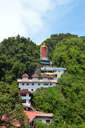 lamaism: Perak Tambun Tibetan Temple, also known as Jingang Jing She by the locals, is surrounded by magnificent perimeters of luscious valleys, orchards and limestone hills Stock Photo