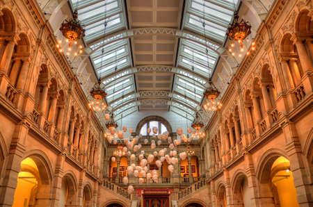 kelvin: The Kelvingrove art gallery and museum, Glasgow, Scotland Editorial