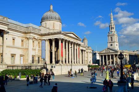 trafalgar: Trafalgar Square in London United Kingdom Stock Photo