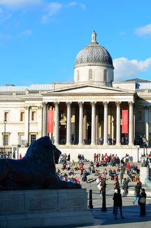 trafalgar: Trafalgar Square in London United Kingdom Editorial