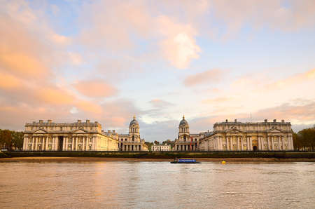 View of Old Royal Naval College (UNESCO World Heritage Site), Greenwich, London, UK