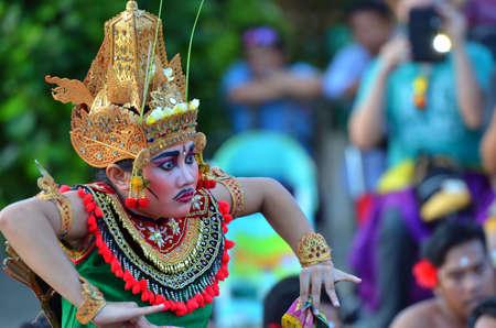 The Kecak Fire Dance at Uluwatu Temple, Bali, Indonesia