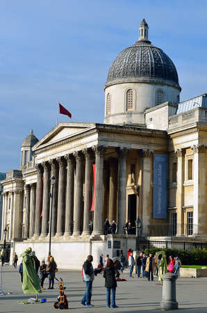 public space: Trafalgar Square is a public space and tourist attraction in central London. Editorial