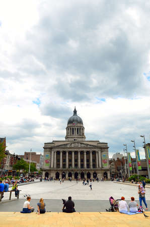 Nottingham market square with council house