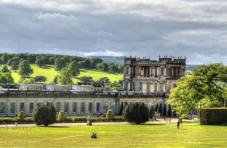 chatsworth: Chatsworth House, Derbyshire, Britain Stock Photo
