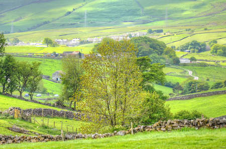 dales: Classic british landscape at the Peak district near Manchester