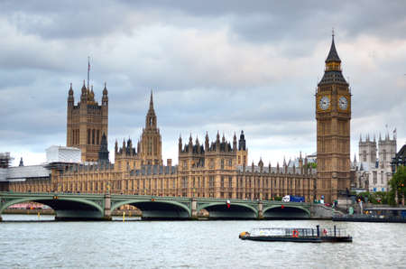 Big Ben and Houses of Parliament, London, UK Imagens