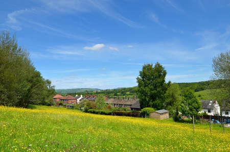 Classic british landscape at the Peak district near Manchester