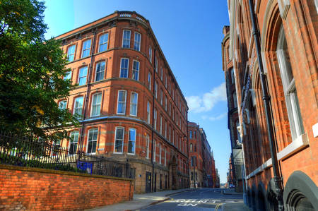 Old architecture in Nottingham, England