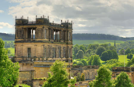 Chatsworth House, Derbyshire, Britain Stock Photo