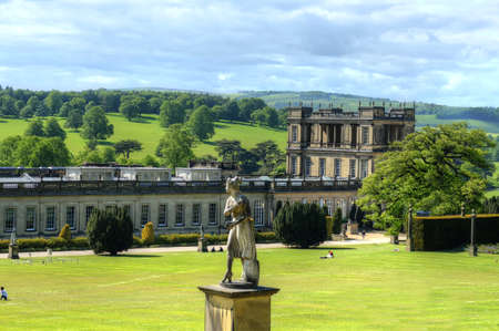 Chatsworth House, Derbyshire, Grande-Bretagne Banque d'images - 84666766