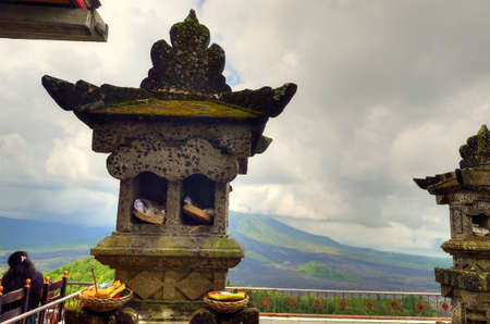 Landscape of Batur volcano on Bali island, Indonesia Stock Photo - 84666786