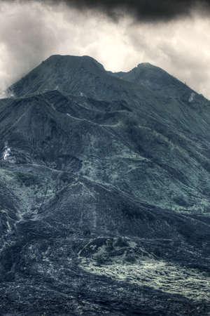 Landscape of Batur volcano on Bali island, Indonesia Stock Photo - 84666792