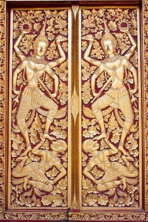 door of Thai temple photo