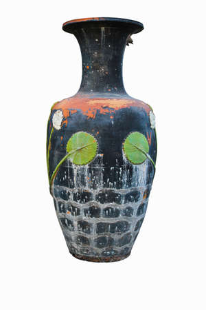 earthen: Isolated big earthen jar