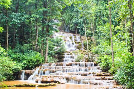 Many steps little waterfall photo
