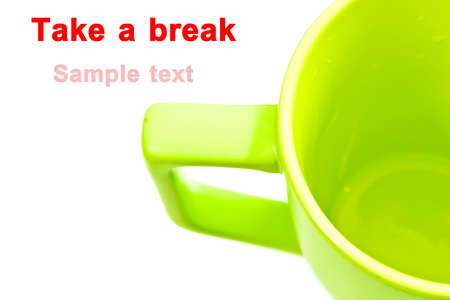 Take a break with a cup of coffee. photo