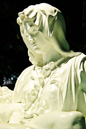 sanctified: The Blessed Virgin Mary sculpture in mini  Siam, Thailand.