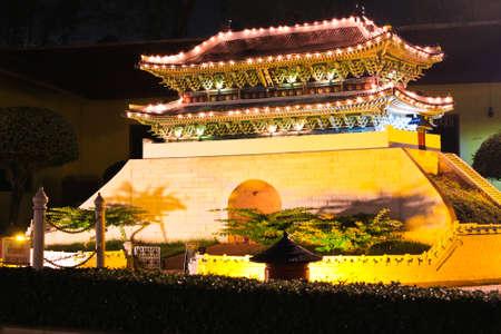 reproduced: NAMDAEMUN,korea gate, is reproduced to mini size in mini siam, Thailand.