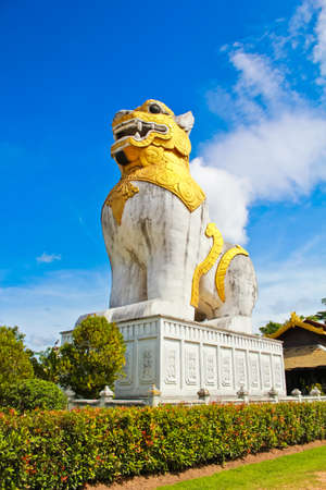 reproduced: Great lion was reproduced from lion in Myanmar palace. This lion is in Prommitr studio, Thailand.