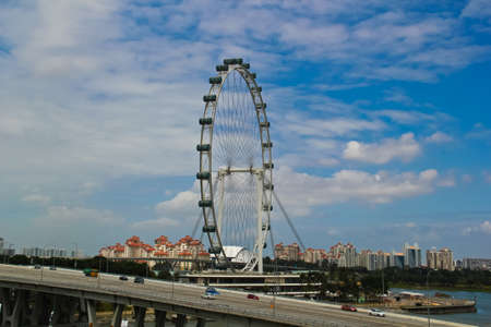 tourist attraction: Huge ferris wheel is tourist attraction of Singapore.