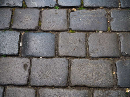 Black brick pattern from pathway. We can use as wallpaper Reklamní fotografie