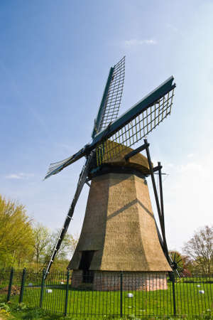 Dutch mill with fence on sunny april afternoon Stock Photo - 4694470