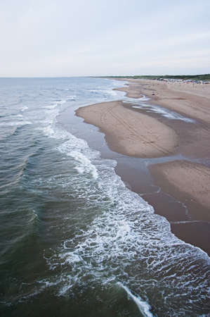 Aerial view on coastline by evening light Stock Photo - 7637100