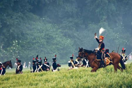 cavalryman: WATERLOO (B�lgica), el 21 de junio de 2009 - los entusiastas de la historia de 24 pa�ses participan en la representaci�n de la batalla de Waterloo que, en 1815, termin� el sue�o imperial de Napole�n. Signos de jinete