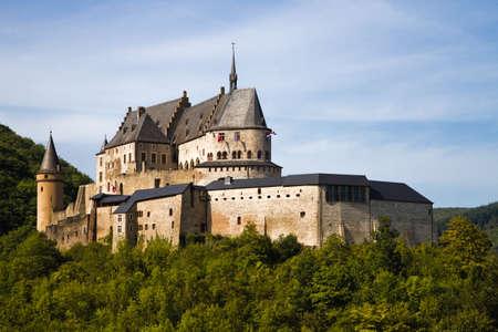 Middeleeuws Kasteel Vianden, bouwen op de top van de berg in Luxemburg of LÃ«tzebuerg