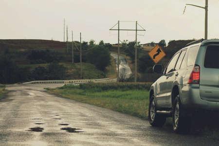Toyota 4Runner driving the backroads