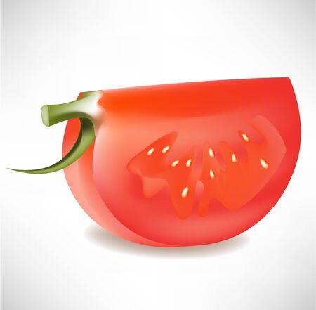 slice of tomato isolated  Vector